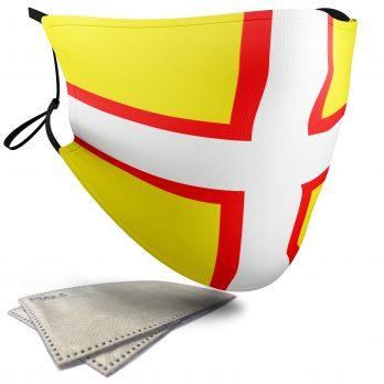 Flag of Dorset  – Adult Face Masks – 2 Filters Included