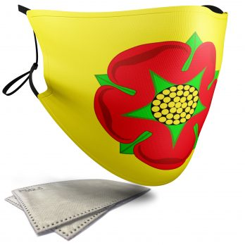 Flag of Lancashire  – Adult Face Masks – 2 Filters Included