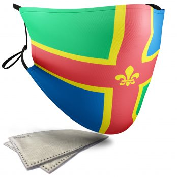 Flag of Lincolnshire  – Adult Face Masks – 2 Filters Included