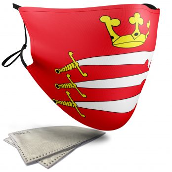 Flag of Middlesex  – Adult Face Masks – 2 Filters Included