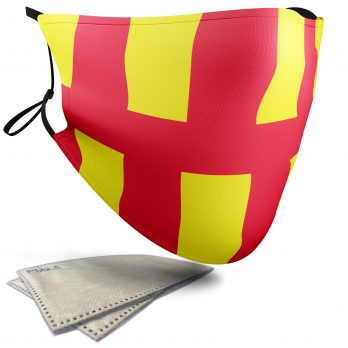 Flag of Northumberland  – Adult Face Masks – 2 Filters Included