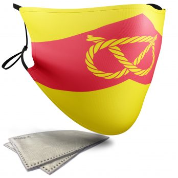 Flag of Staffordshire  – Adult Face Masks – 2 Filters Included