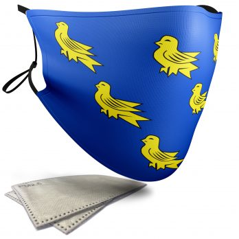 Flag of Sussex  – Adult Face Masks – 2 Filters Included