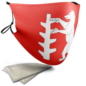 Flag of Warwickshire  – Adult Face Masks – 2 Filters Included