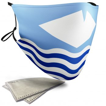 Flag of The Isle of Wight  – Adult Face Masks – 2 Filters Included
