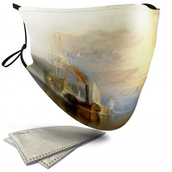 The Fighting Temeraire Landscape Painting – Adult Face Masks – 2 Filters Included
