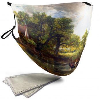 The Hay Wain Landscape Painting – Adult Face Masks – 2 Filters Included