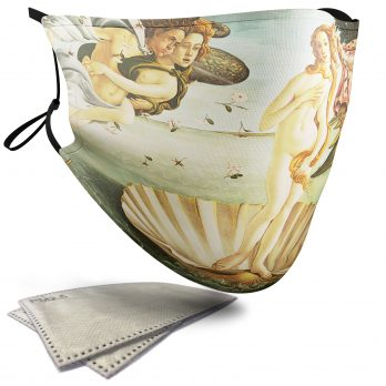 The Birth of Venus Painting – Adult Face Masks – 2 Filters Included