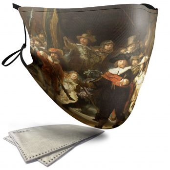 The Night Watch Painting – Adult Face Masks – 2 Filters Included