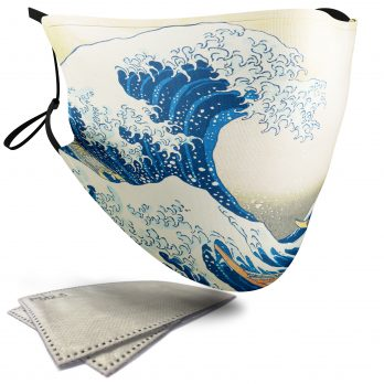 The Great Wave off Kanagawa Painting – Adult Face Masks – 2 Filters Included