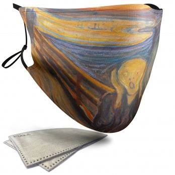 The Scream Painting – Adult Face Masks – 2 Filters Included
