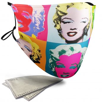 Marilyn Diptych Painting – Adult Face Masks – 2 Filters Included