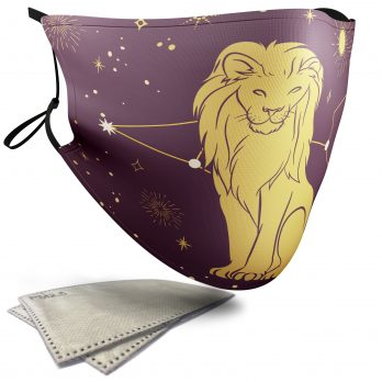 Leo Star Sign – Adult Face Masks – 2 Filters Included