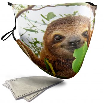 Cute Sloth – Adult Face Masks – 2 Filters Included