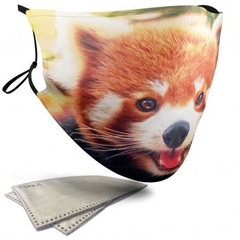 Cute Red Panda – Adult Face Masks – 2 Filters Included