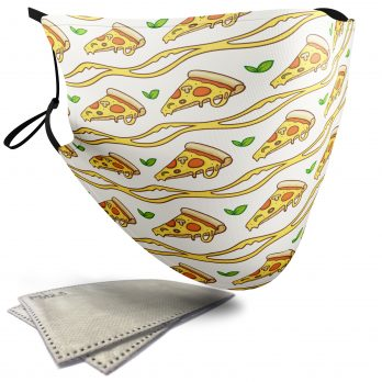 Pizza Food Pattern – Adult Face Masks – 2 Filters Included