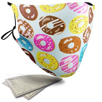 Doughnut Food Pattern – Adult Face Masks – 2 Filters Included