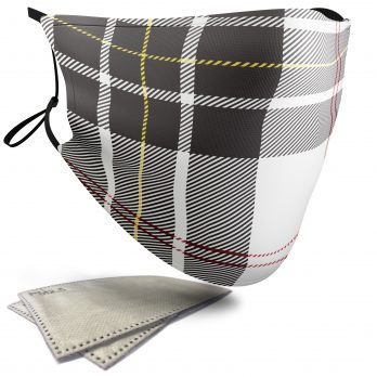 MacPherson Tartan – Child Face Masks – 2 Filters Included