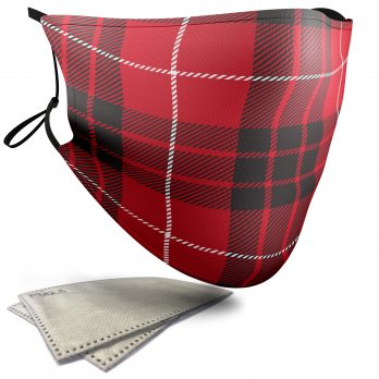 Monroe Tartan – Child Face Masks – 2 Filters Included