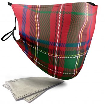 Stewart Tartan – Child Face Masks – 2 Filters Included
