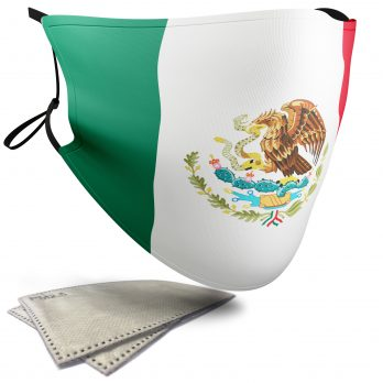 Mexico Flag – Child Face Masks – 2 Filters Included