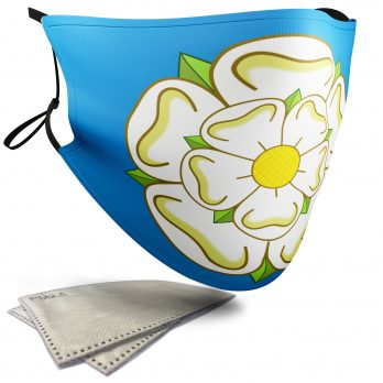 Flag of Yorkshire  – Child Face Masks – 2 Filters Included