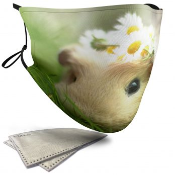 Cute Hamster with a Daisy Crown – Child Face Masks – 2 Filters Included