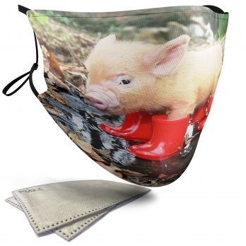 Cute Piglet in Wellies – Child Face Masks – 2 Filters Included