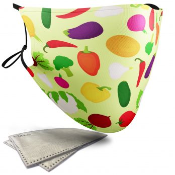 Vegetable Food Pattern – Child Face Masks – 2 Filters Included
