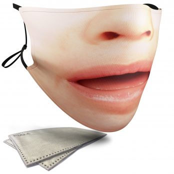 Upset Child's Face – Adult Face Masks – 2 Filters Included