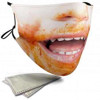 Messy Child's Face – Adult Face Masks – 2 Filters Included