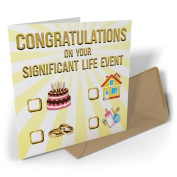 Congratulations On Your Significant Life Event