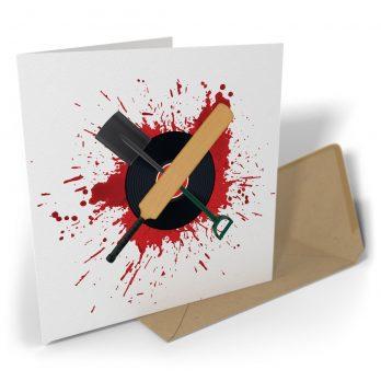 Blood Splattered Vinyl Cricket Bat Shovel