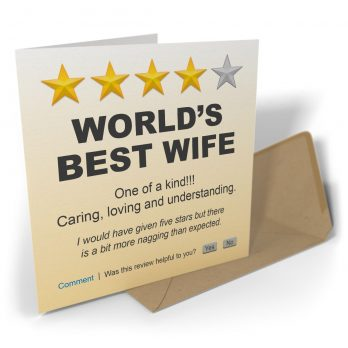 World's Best Wife One Of A Kind!!!