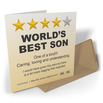 World's Best Son One Of A Kind!!!