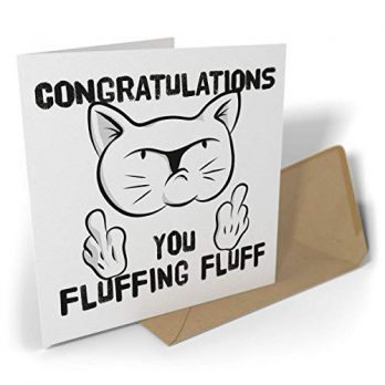 Congratulations, You Fluffing Fluff | Rude Cat