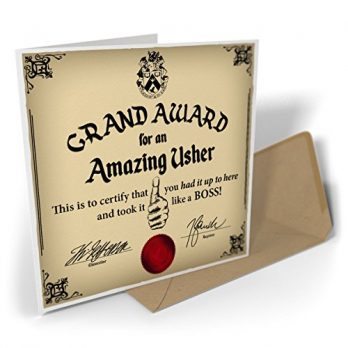 Grand Award For An Amazing Usher