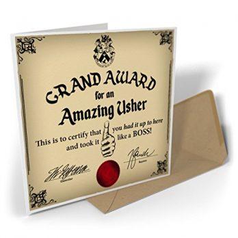 Grand Award For An Amazing Usher