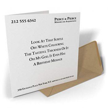 Pierce & Pierce Birthday Card